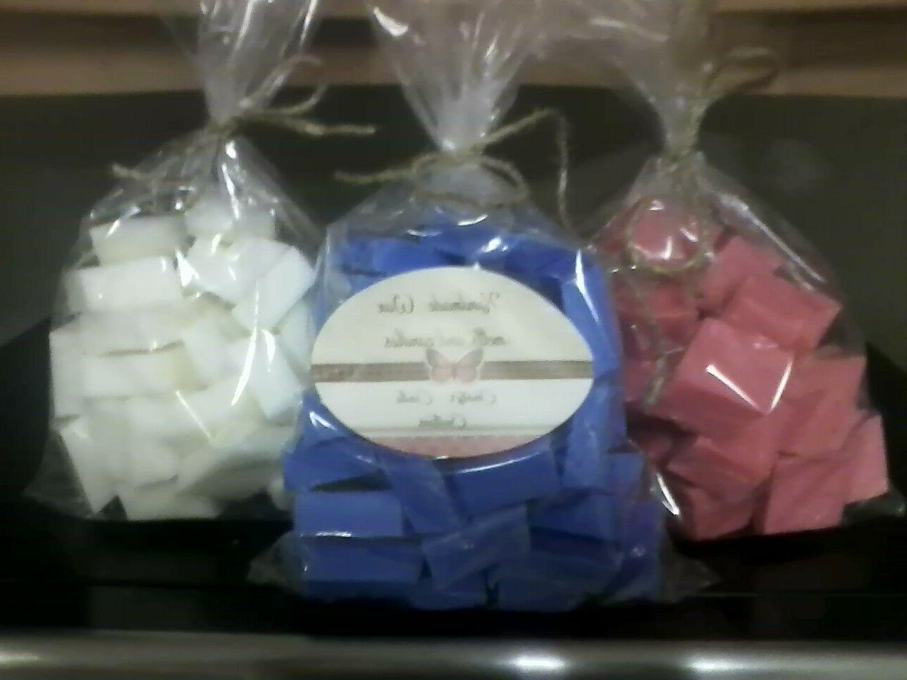 6 oz. Wax melts. Super Scented. Double size of regular cubes