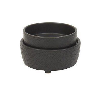 Black Textured 2in1 Ceramic Stoneware - Electric Candle Tart