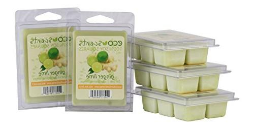 EcoScents Ginger Lime Wax Melts 5 Pack, Green