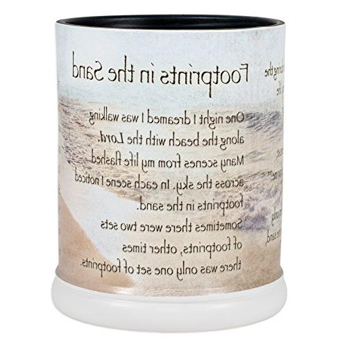 Elanze Designs Footprints in The Sand Ceramic Stoneware Elec