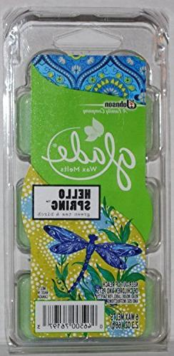 Glade Wax Melts - Hello Spring - Green Tea & Birch - 6 Count