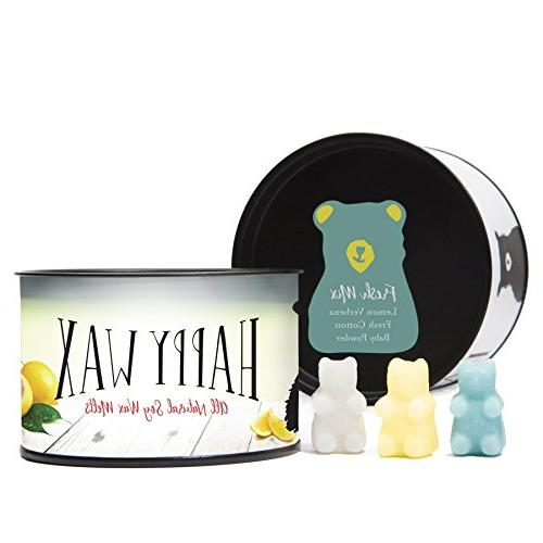 Happy Wax Warmer & Kit our Patent Plug-In Wax Warmer in + 3.6 Fresh Mix Soy Wax Melts