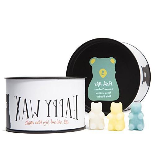 Happy Wax- Fresh Mix, Scented Soy Wax Melts - Bear Shapes Pe