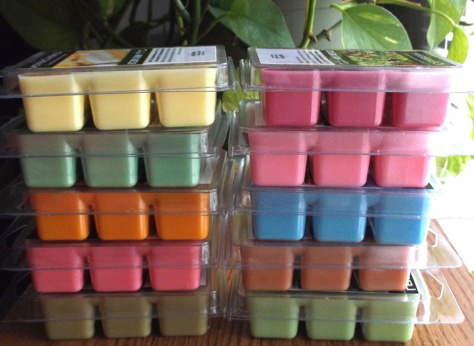 Heavily Scented Soy-Based Wax Tart Melts 3 pks of 6 cubes ea