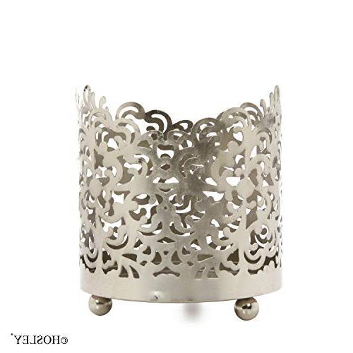 "Hosley 4.5"" High, Jar Sleeve, Finish. Ideal for Weddings, Spa, Votive"