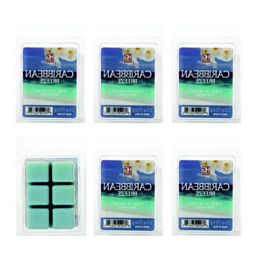 Hosley 6 Pack of 2.5oz Wax Cubes / Melts - CARIBBEAN BREEZE