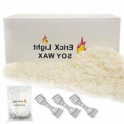 Natural Soy Wax 10 Pound121℉ melt Point 120 Wicks 3 Wick C