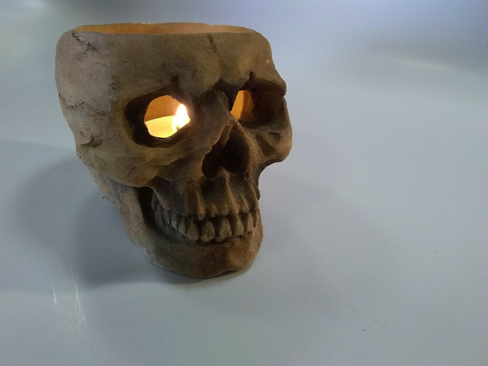 Skull Head Skeleton Halloween T Tea Light Candle Tart Warmer
