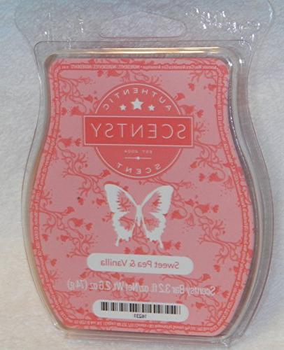 Sweet Pea and Vanilla Scentsy Bar Wickless Candle Tart Warme