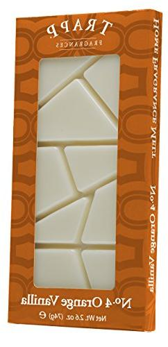 Trapp Candles Home Fragrance Melt, No. 4 Orange Vanilla, 2.6