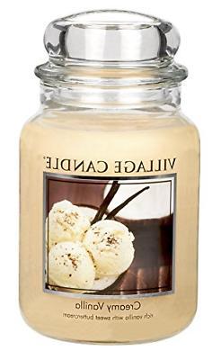 Village Candle Creamy Vanilla 26 oz Glass Jar Scented Candle