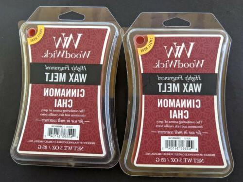 WoodWick Cinnamon Chai Hourglass Wax Melt, 3 oz