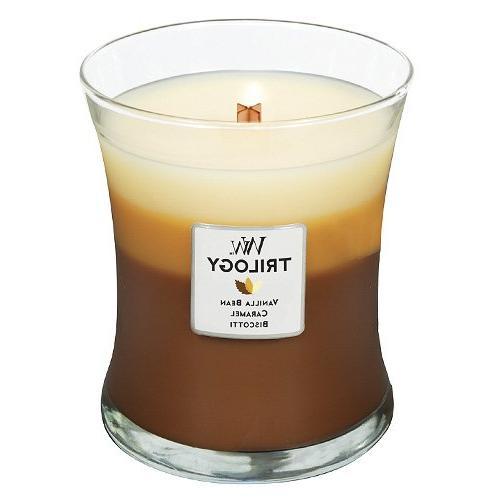 Woodwick Candle Café Sweets Trilogy Medium Jar
