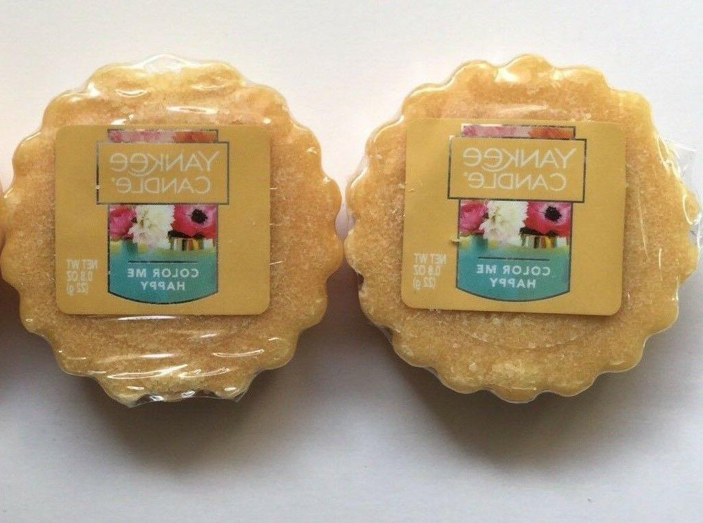 Yankee Candle COLOR ME HAPPY TARTS WAX MELTS X 2 NEW SCENT S