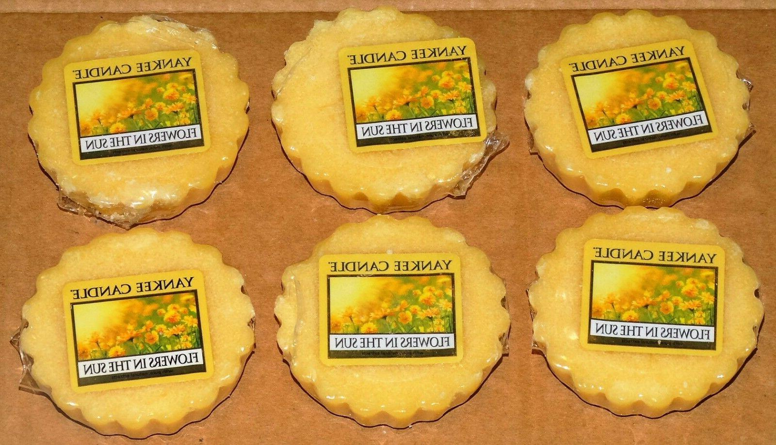 Yankee Candle Set of 6 Flowers in the Sun Wax Melt Tarts New