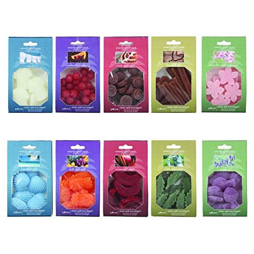 aromatherapy assorted shaped scented wax