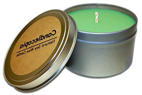balsam cedar scented soy candle