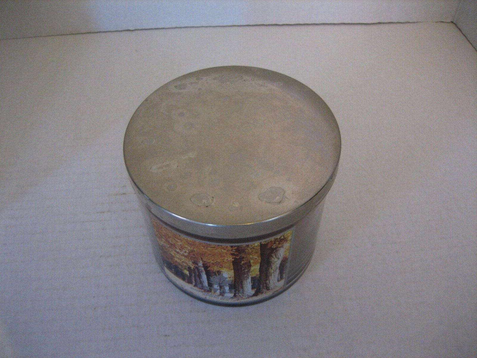 Bath Leaves Brown 3 Wick Scented Lid 1/2in.Tx4in.W
