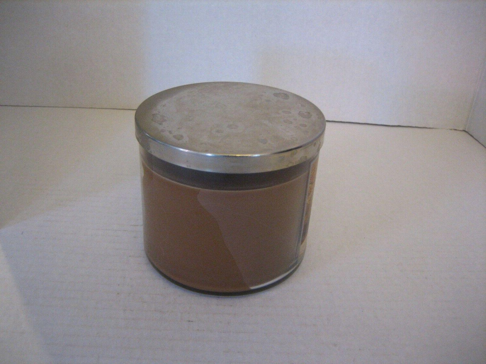 Bath & Works Leaves Brown Scented Candle/w 1/2in.Tx4in.W NWWT