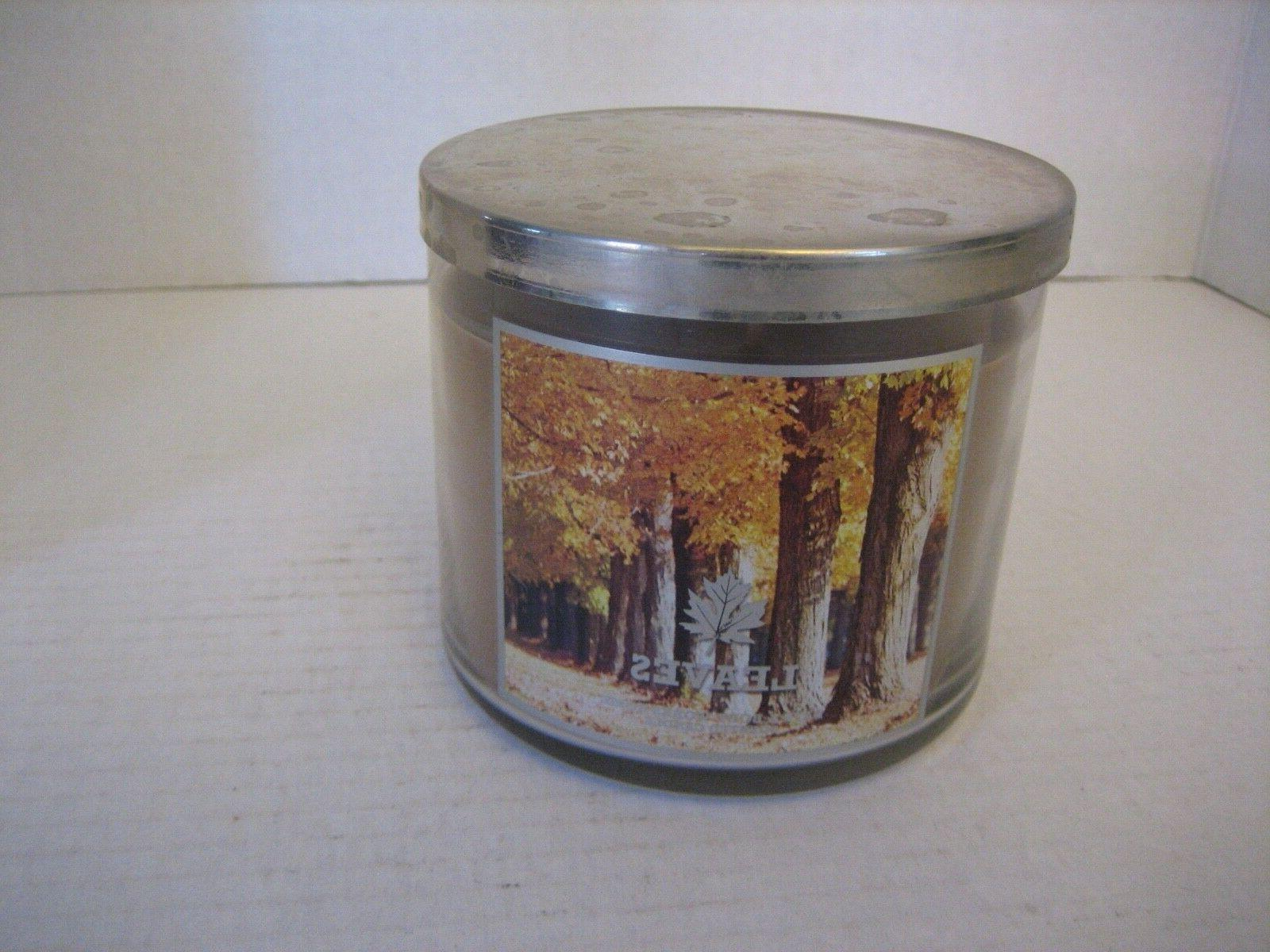 Bath Leaves Brown Scented Lid 1/2in.Tx4in.W NWWT