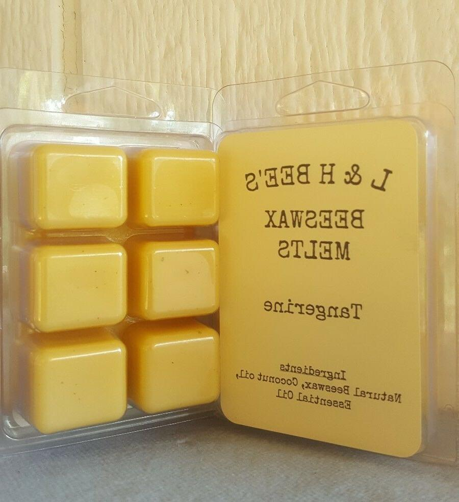beeswax tangerine wax melts