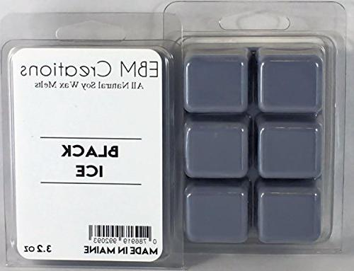 black ice scented natural soy wax melts cube clamshell 32oz