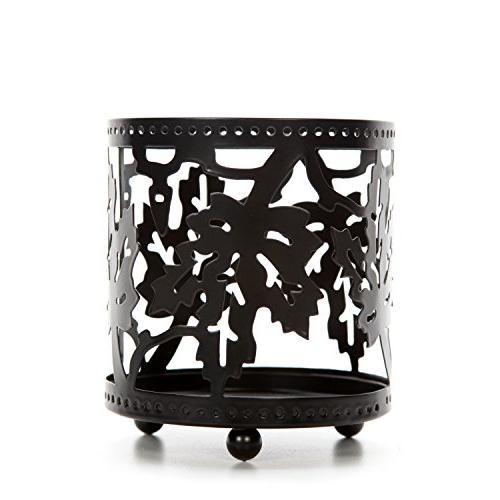 black maple leaf jar candle