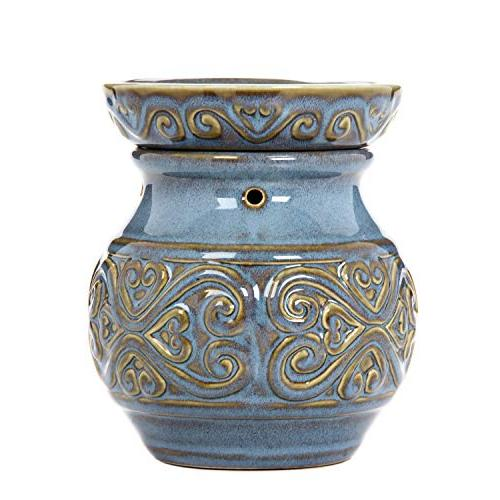 blue ceramic electric warmer ideal