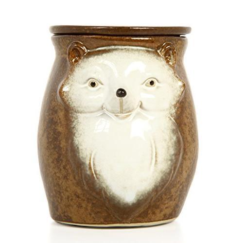 brown woodland animal ceramic electric