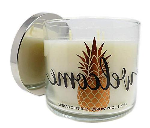 candle 3 wick welcome scent