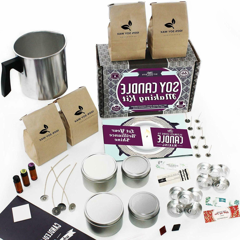 Candle Making Kit Set Supplies DIY Melting Pot Soy Wax Scent