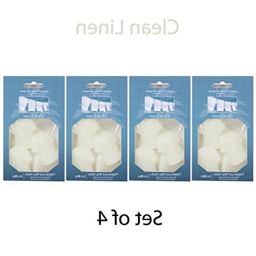clean linen shaped wax melt