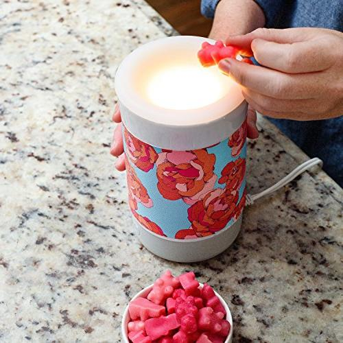 Happy Wax Jasmine Soy Bear Shapes Perfect for Mixing Scented Warmer 3.6 oz Tin 100 Hours Burn Time in Tin!