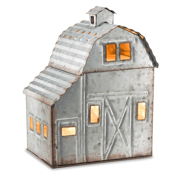 country living barn house light up plug