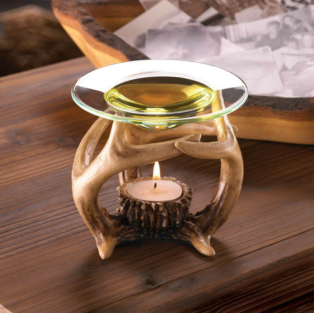 deer antler oil warmer tea light wax