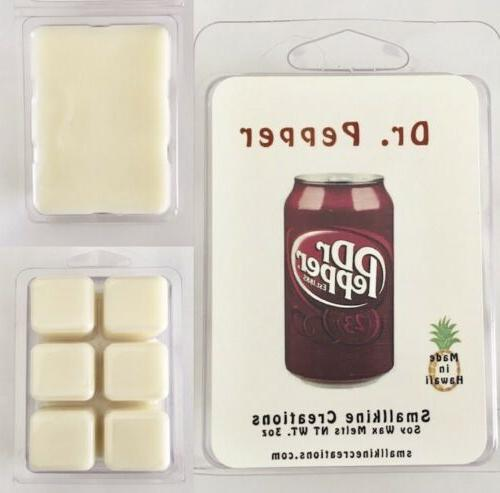 dr pepper soda scented soy wax melts