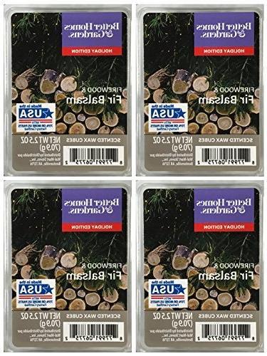 firewood fir balsam scented wax