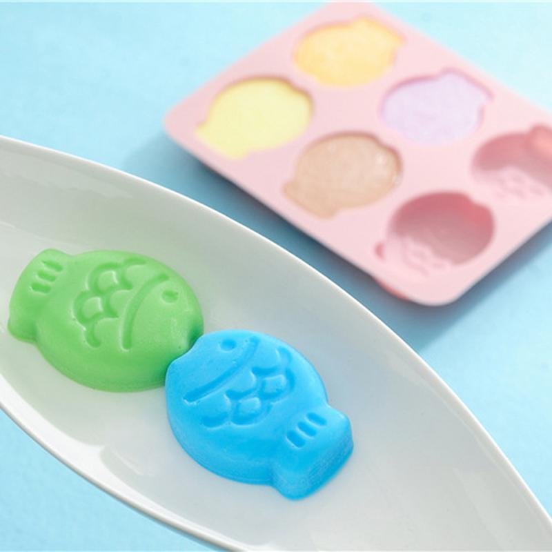 Fish Shape for Chocolate Candy Fondant Jelly Baking Cake Soap Polymer Clay <font><b>Melt</b></font> Plaster <font><b>Cube</b></font> Tray