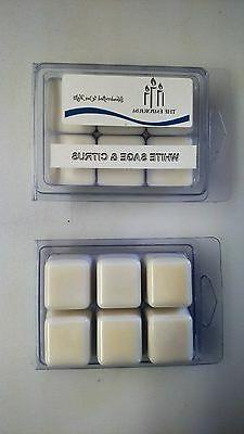 Hand Made Soy Wax Melts - Break Away Clamshell 6 pack - Whit