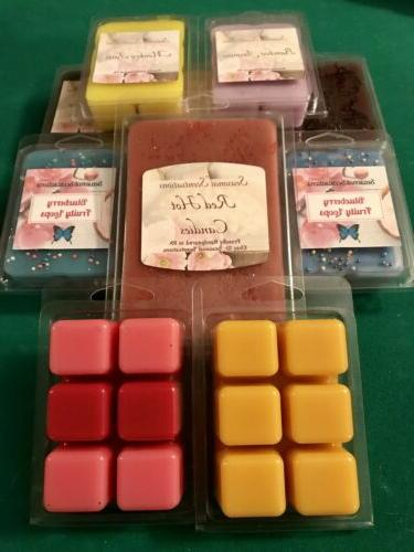 handmade scented wax melts clamshell tart cubes