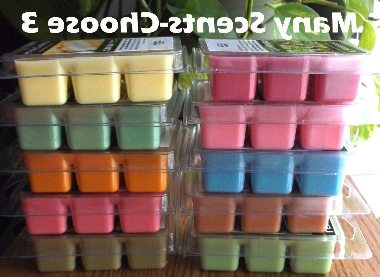 heavily scented soy based wax tart melts