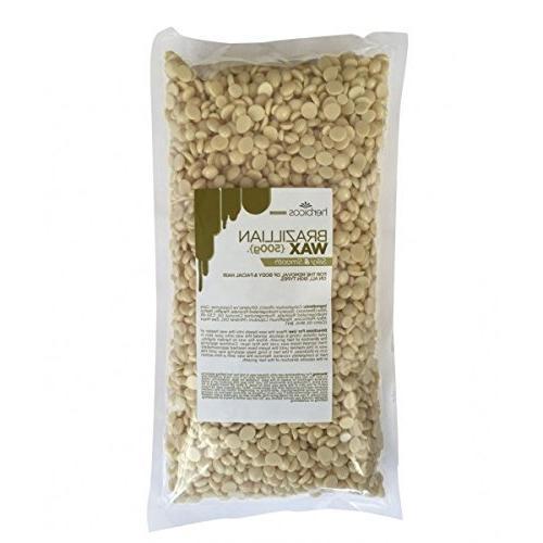 Huini Herbicos Hair Hot Wax Warmer Waxing 400ml Kit + Creme Beans/Beads + Sticks