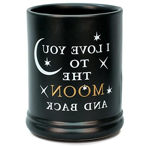 love you moon ceramic stoneware