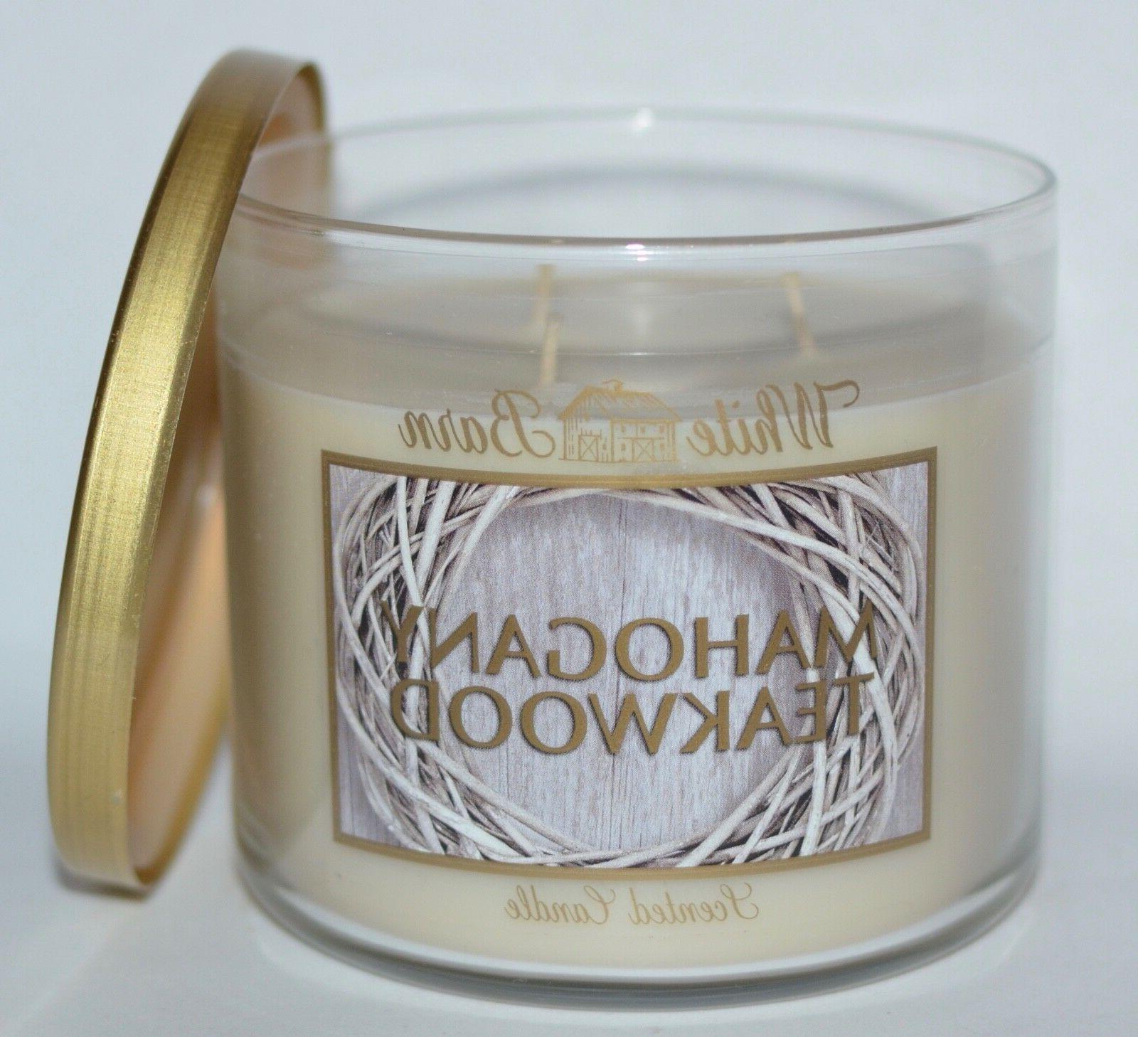 mahogany teakwood 3 wick scented