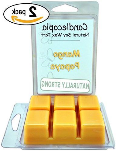 mango papaya scented wax melts