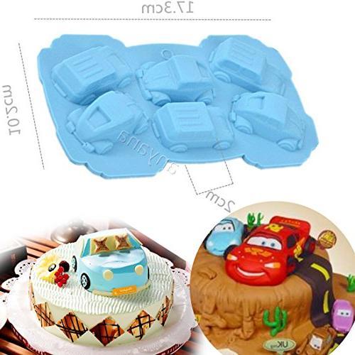 mini car silicone mold cake