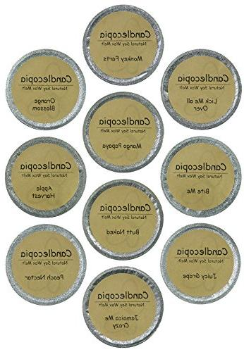 Candlecopia Naked, Me, Papaya Strongly Scented Natural Soy Wax Cups, 12.5 Ounces in Sealed Cups