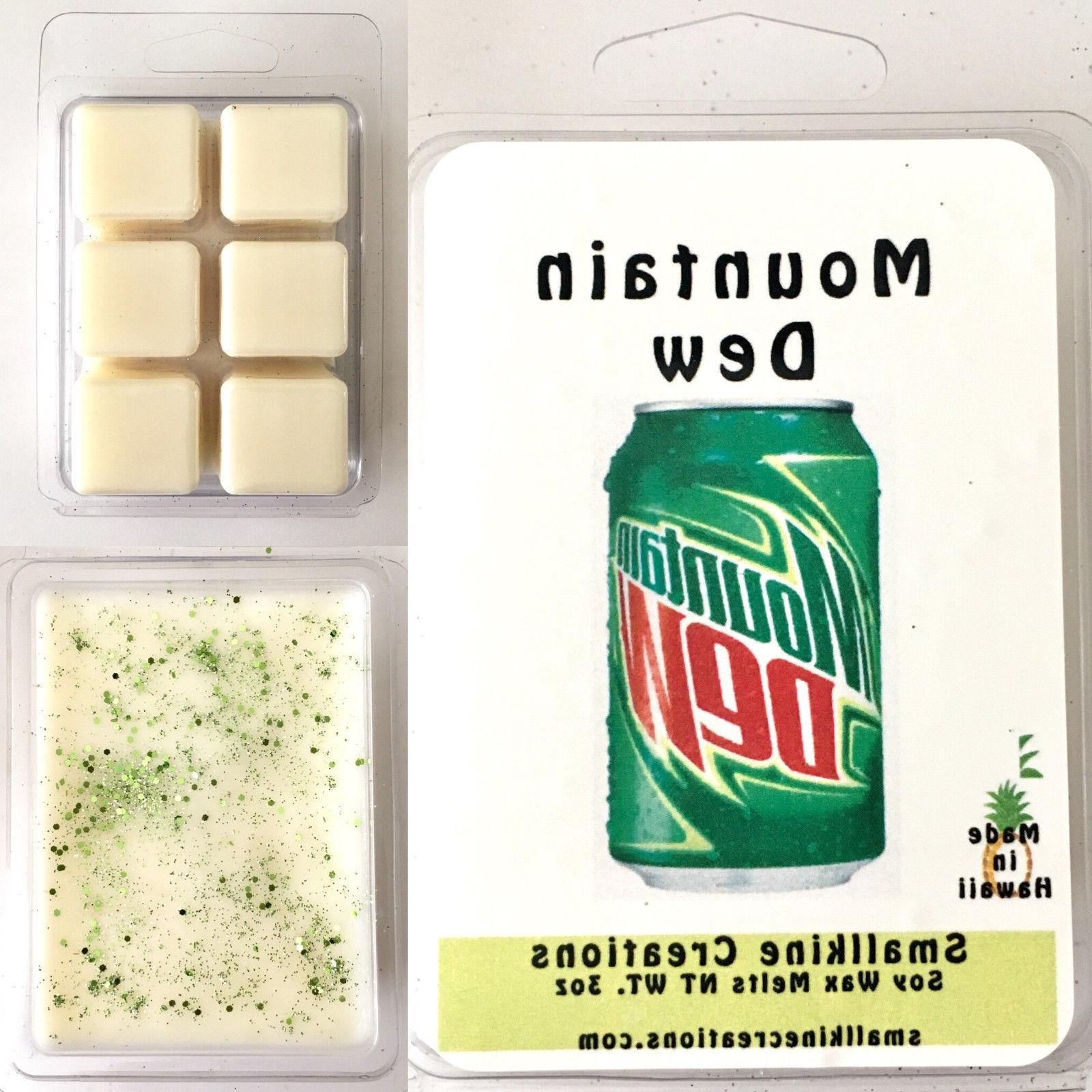 mountain dew soda scented soy wax melts