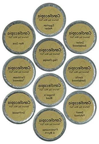 Candlecopia Nag Amber, Blood, Patchouli and More! Scented Hand Natural Cups, 12.5 10 x 1.25 Sealed