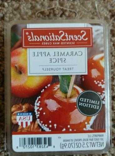 New 4 Scented Wax Melts Caramel Apple Spice